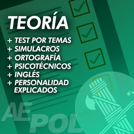 curso teoria test simulacros ortografia personalidad psicotecnicos ingles guardia civil