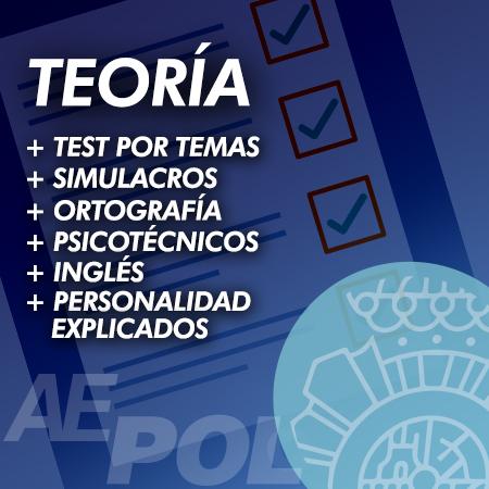 curso teoria test simulacros examen ingles psicotecnicos explicados policia nacional