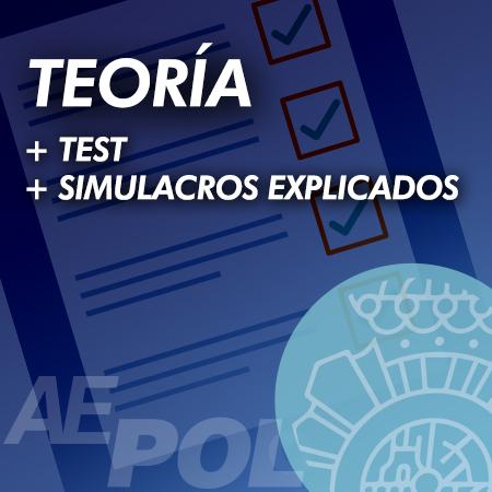 curso teoria test simulacros examen explicados retroalimentados policia nacional