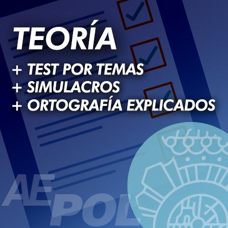 cuso teoria test simulacros examen ortografia explicados retroalimentados policia nacional