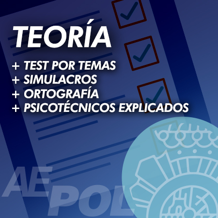curso teoria test simulacros examen personalidad ortografia explicados retroalimentados polician acional