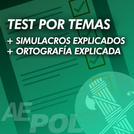 curso test simulacros ortografia explicados guardia civil