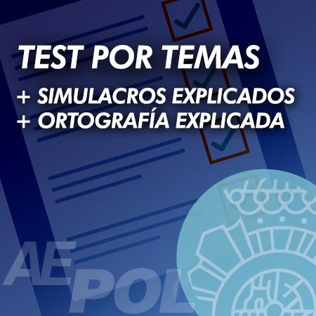 curso test simulacros examen explicados ortografia policia-naciona